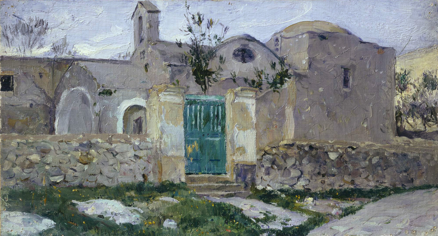 Mikhail Vasilyevich Nesterov. Capri. The entrance to the monastery. Etude