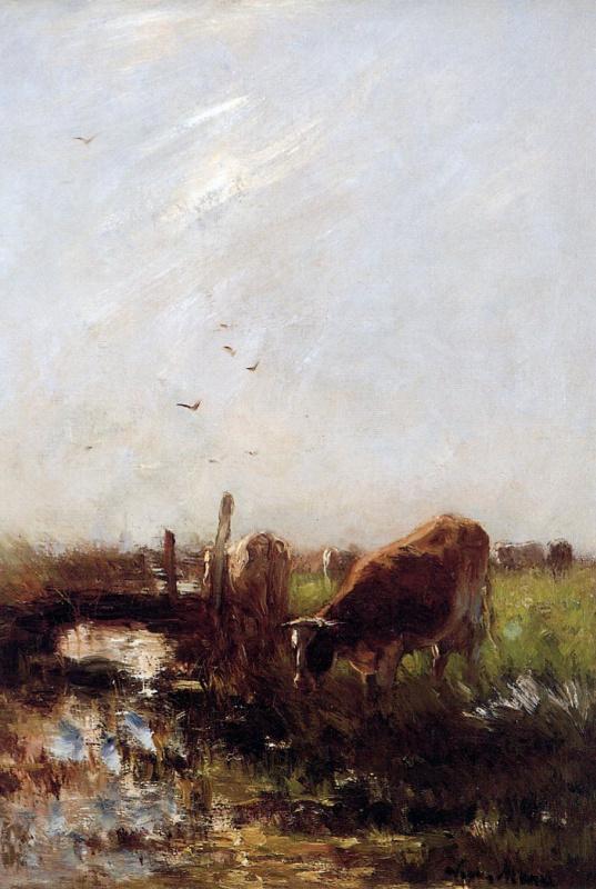 Виллем Марис. Коровы на ручье