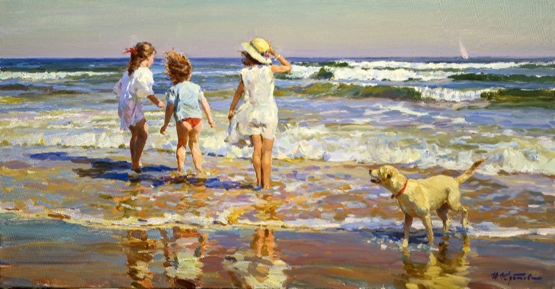 Yuri Krotov. Splashing waves.