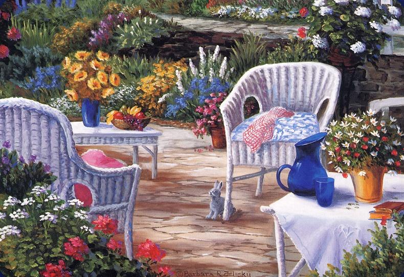 Barbara Feliski. Spring in the garden