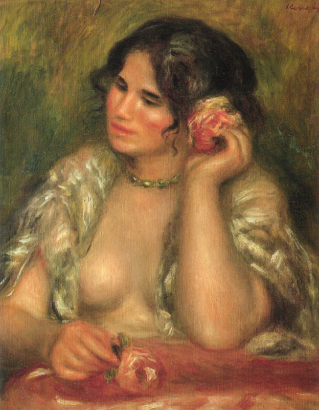 Pierre-Auguste Renoir. Gabrielle with a rose