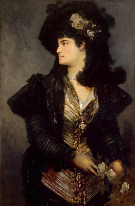 Hans Makart. Female portrait