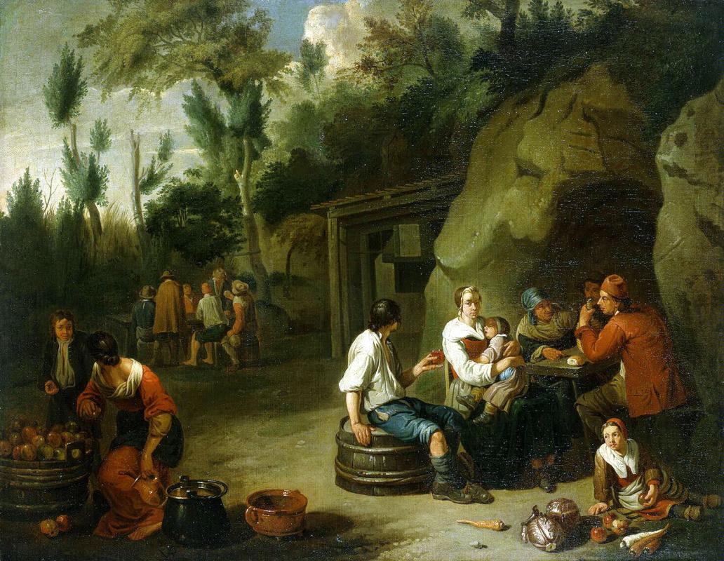 Норберт ван Блумен. Крестьянская семья за столом
