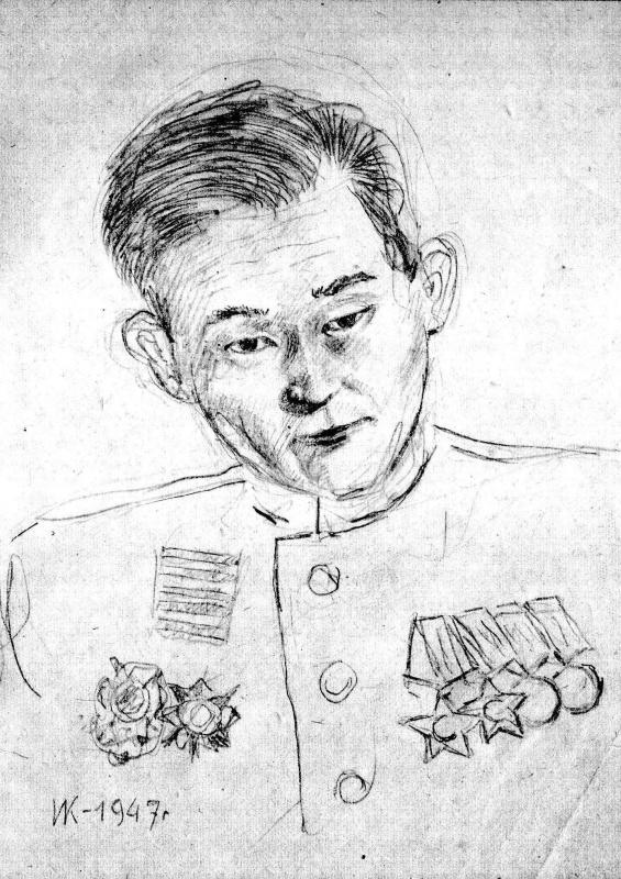 Иван Яковлевич Кузнецов. Фронтовой друг. Разведчик Александр Сагалаков