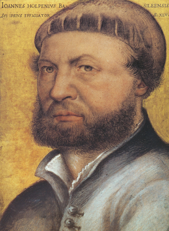 Hans Holbein The Younger. Self-portrait