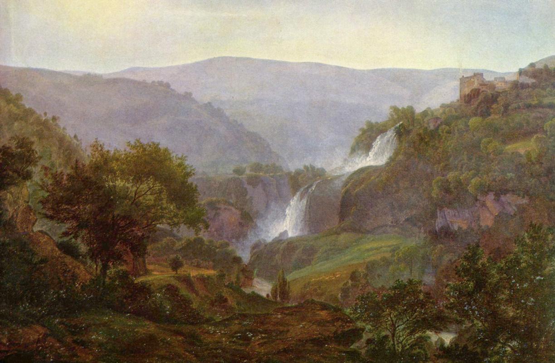 Johann Martin von Roden. Waterfall near Tivoli