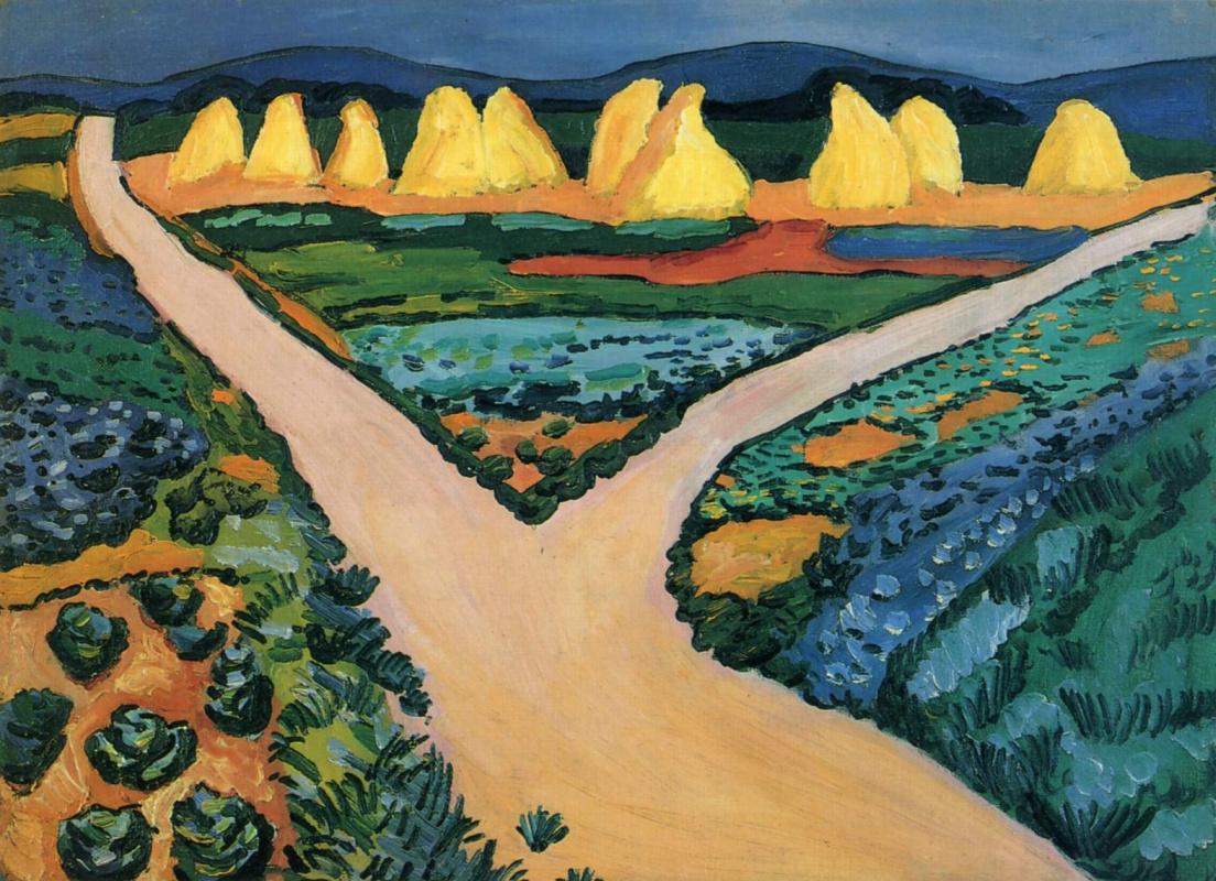 August Macke. Vegetable fields