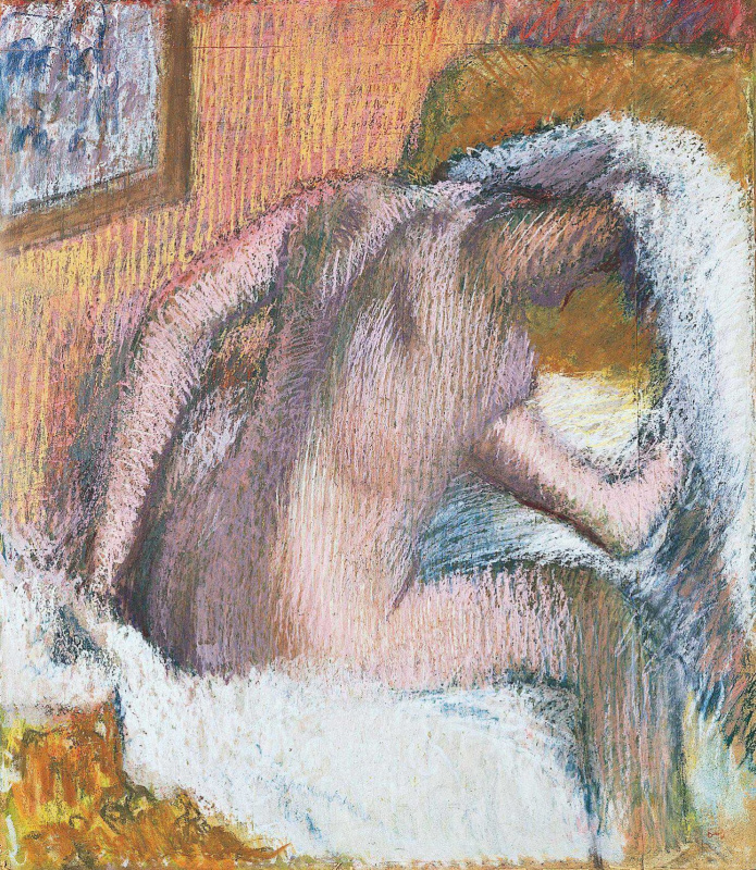 Edgar Degas. A woman wipes her hair