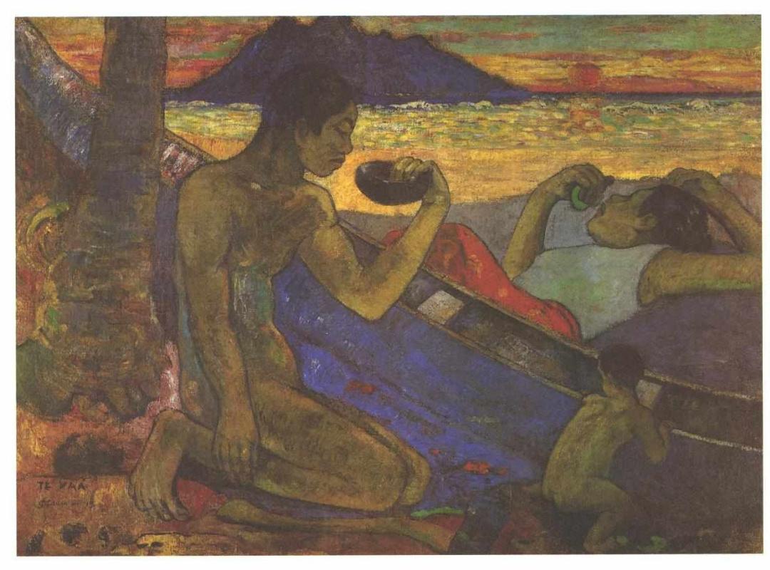 Поль Гоген. Каноэ (Таитянская семья)