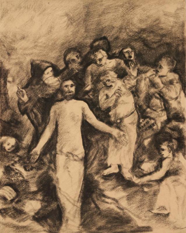 Эскиз фрески «Воскрешение»