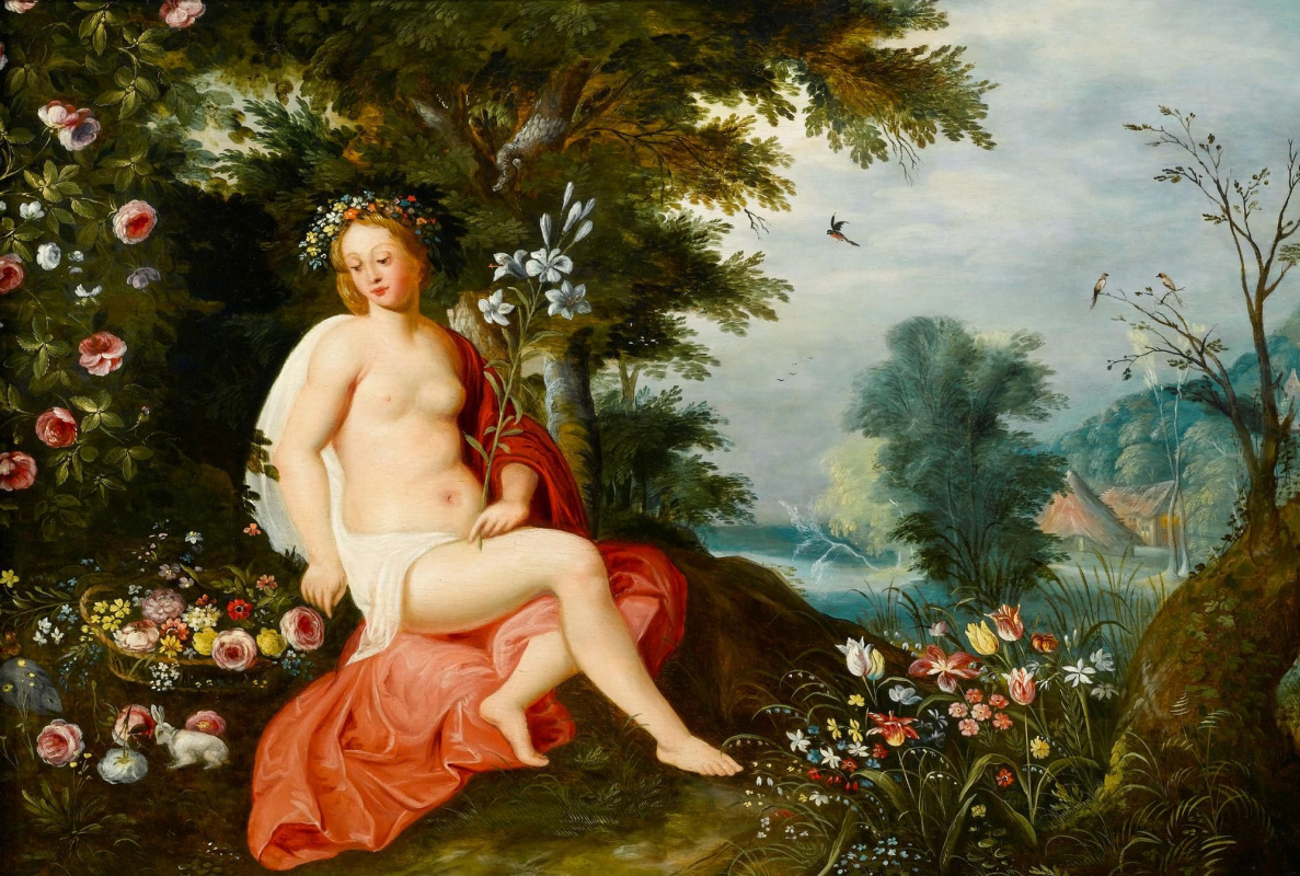 Jan Brueghel the Younger. Flora in flowers