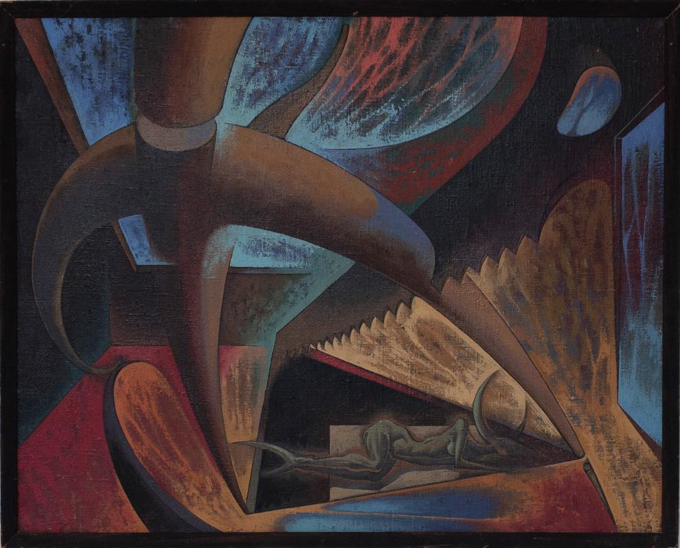 Игорь Юрьевич Евсеев. Composition with a saw
