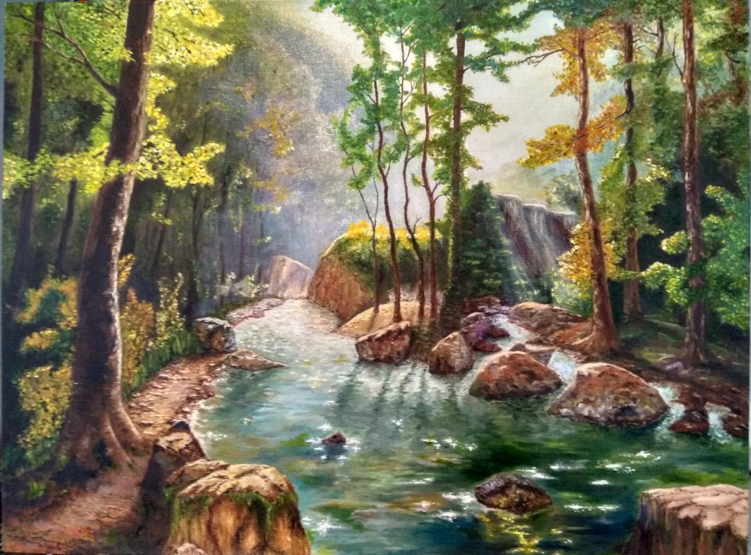 Dmitry Alexandrovich Tsvetaev. River in the mountains