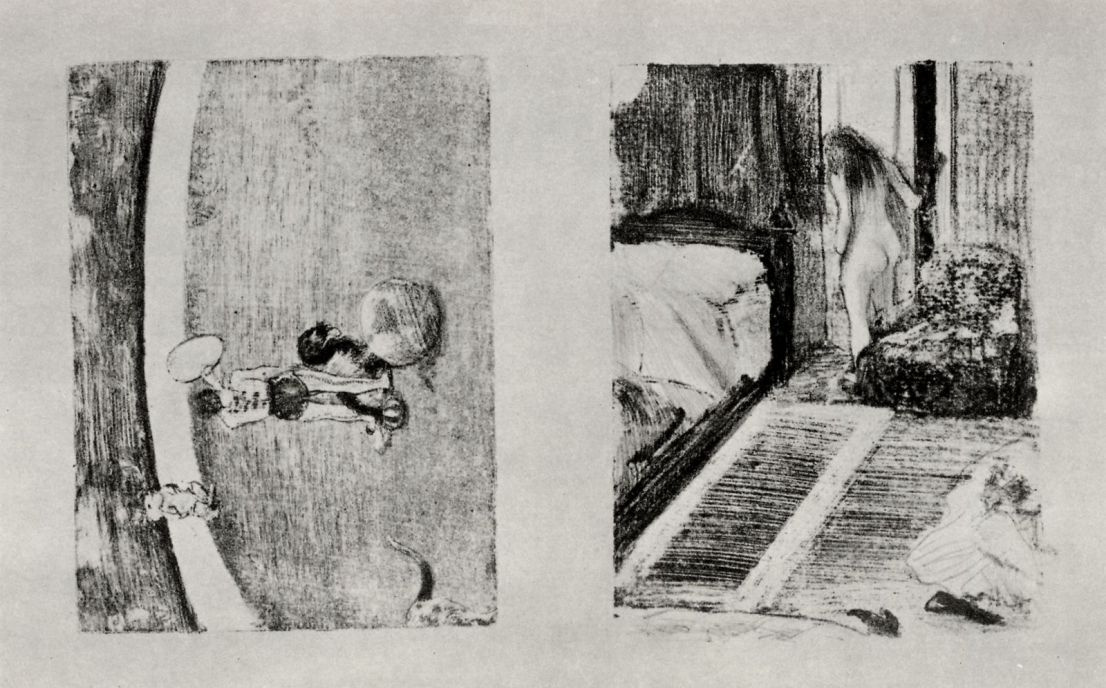 Edgar Degas. Two motives: the circus Medrano and Nude in the doorway