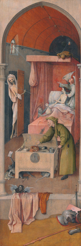 Hieronymus Bosch. Death and the miser
