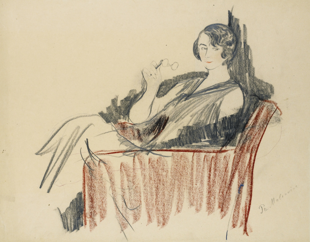 Philip Andreevich Malyavin. Woman in the chair