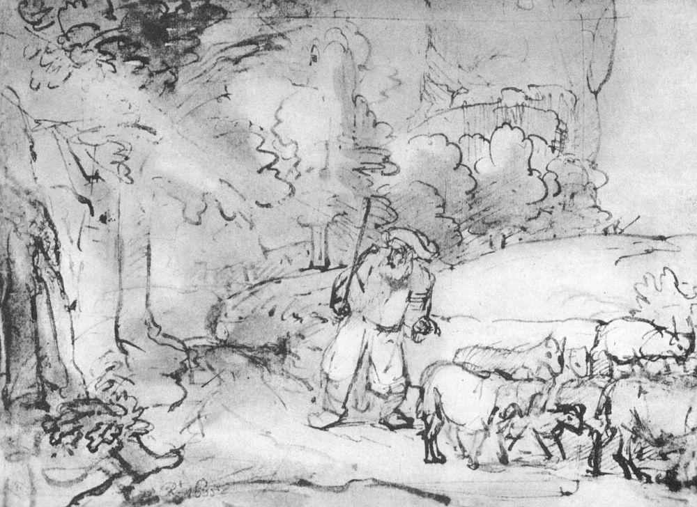 Рембрандт Ван Рейн. Призвание Моисея