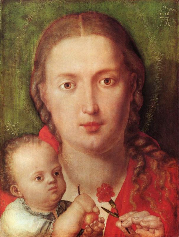 Albrecht Durer. Maria with Carnation