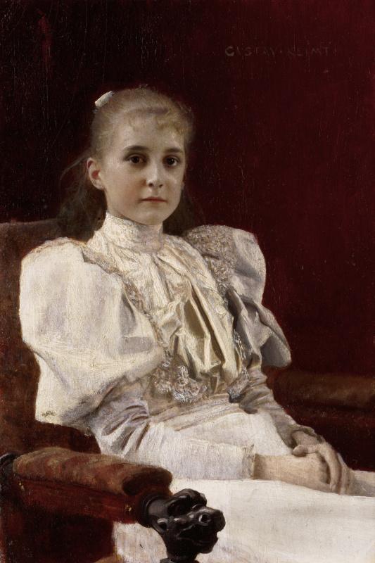 Густав Климт. Сидящая девочка