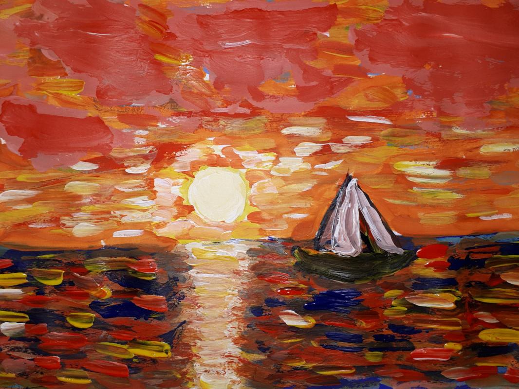 Alena ferr4ik. Colorful sunset