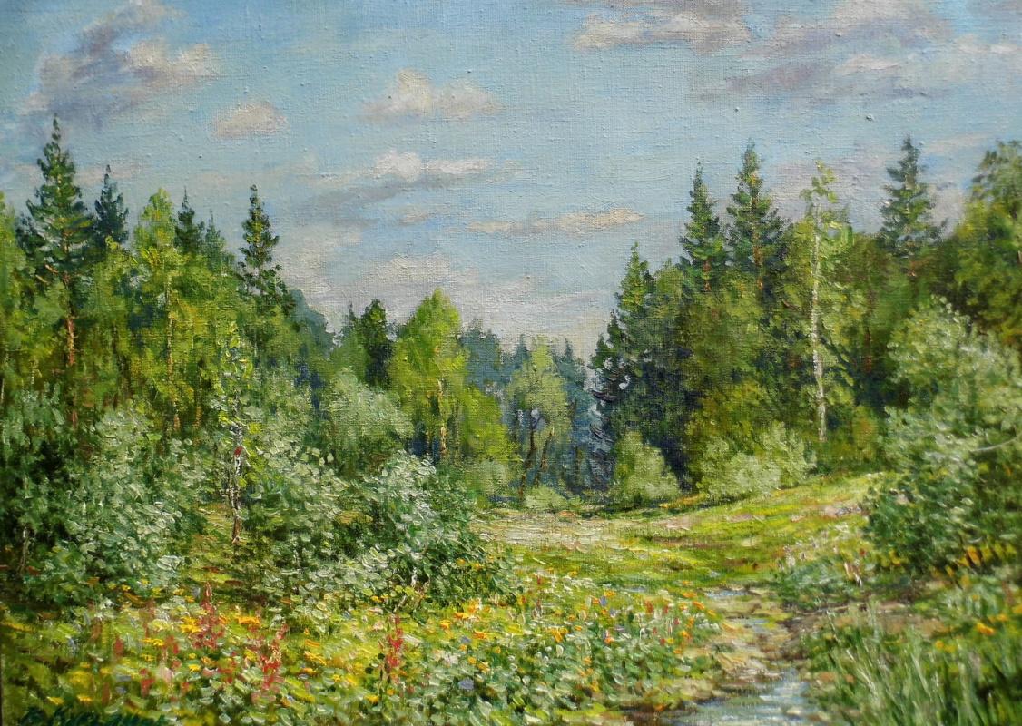 Victor Vladimirovich Kuryanov. Creek at the edge