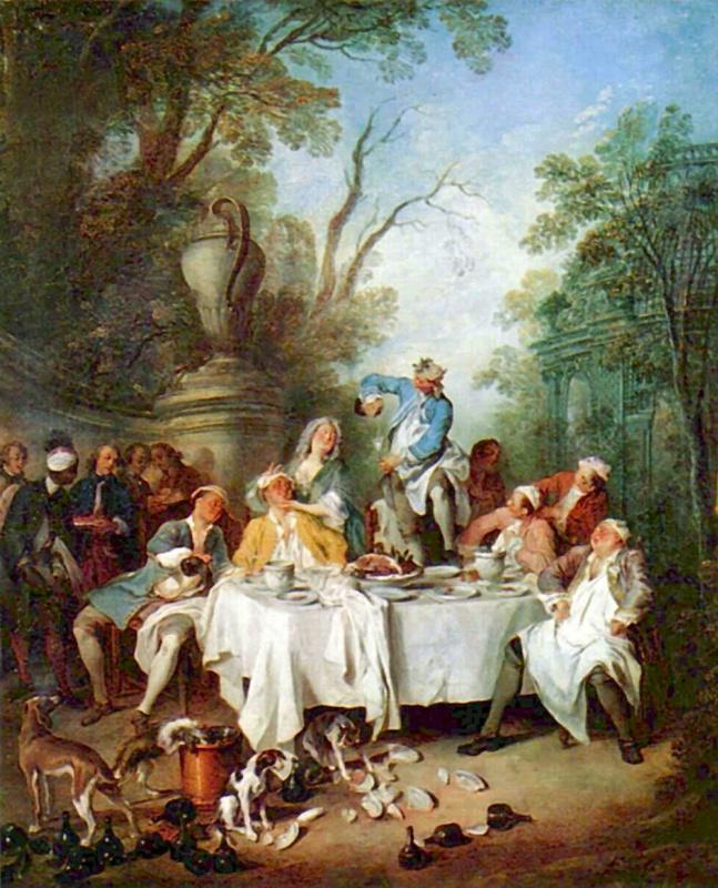 Nicolas Lancret. Ham for Breakfast