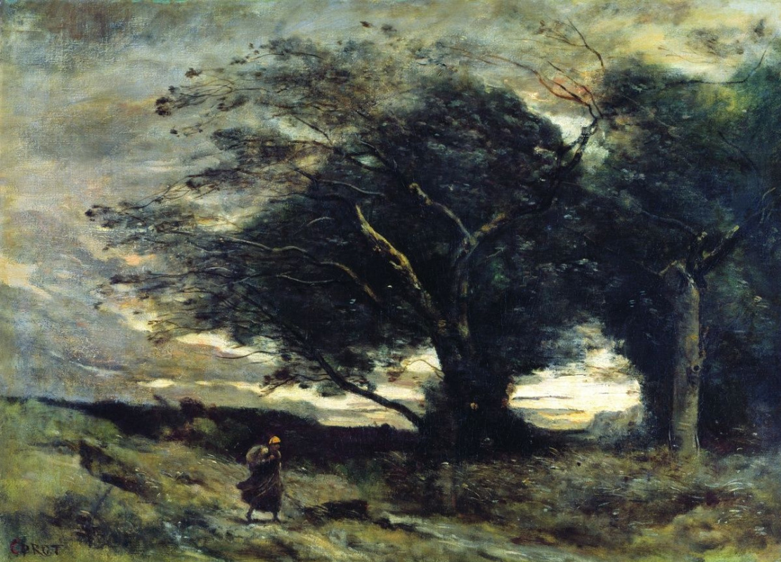 Camille Corot. The Gust of Wind