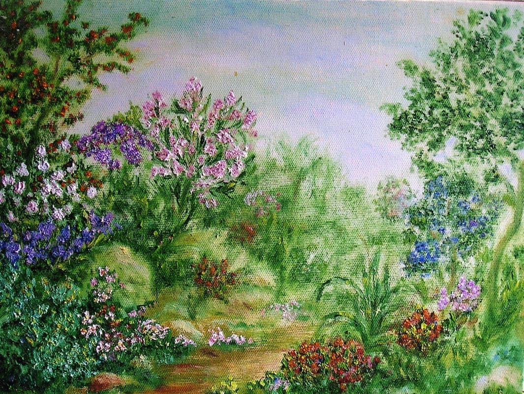 Rita Arkadievna Beckman. Spring in my garden