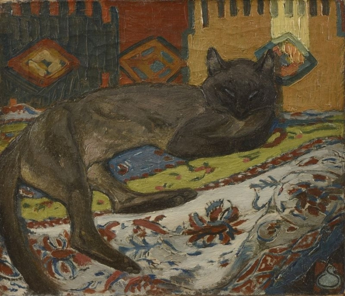 Theophile-Alexander Steinlen. The cat on the couch