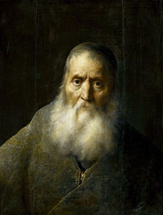 Ян Ливенс. Портрет седого старика (Раввин)