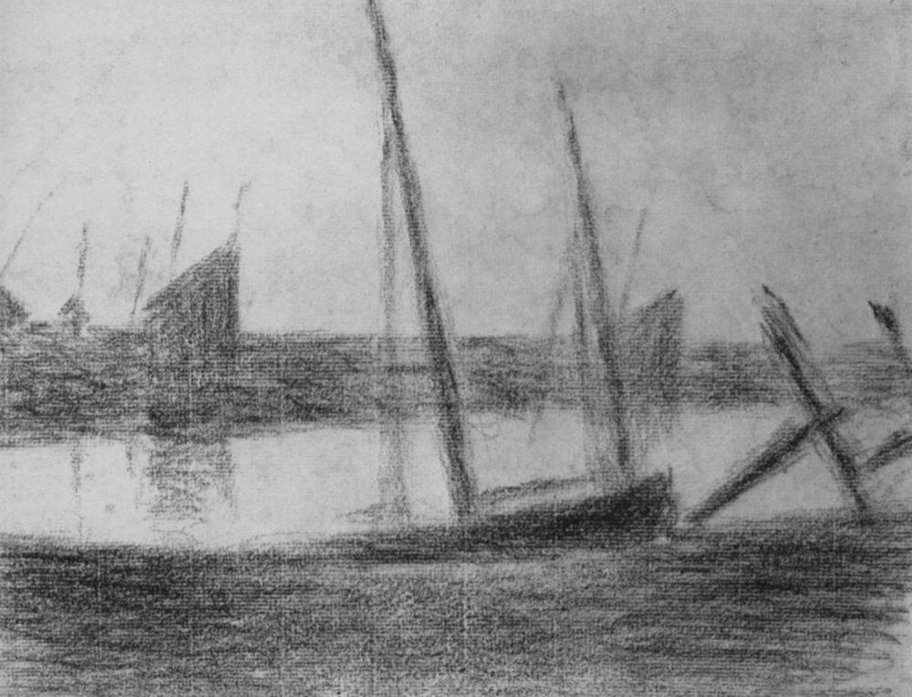 Жорж Сёра. Лодки и якоря