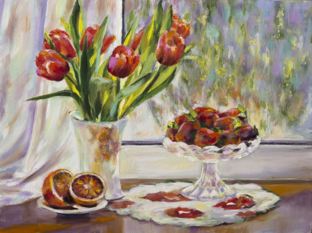 Mila Kaneyeva. Summer still life
