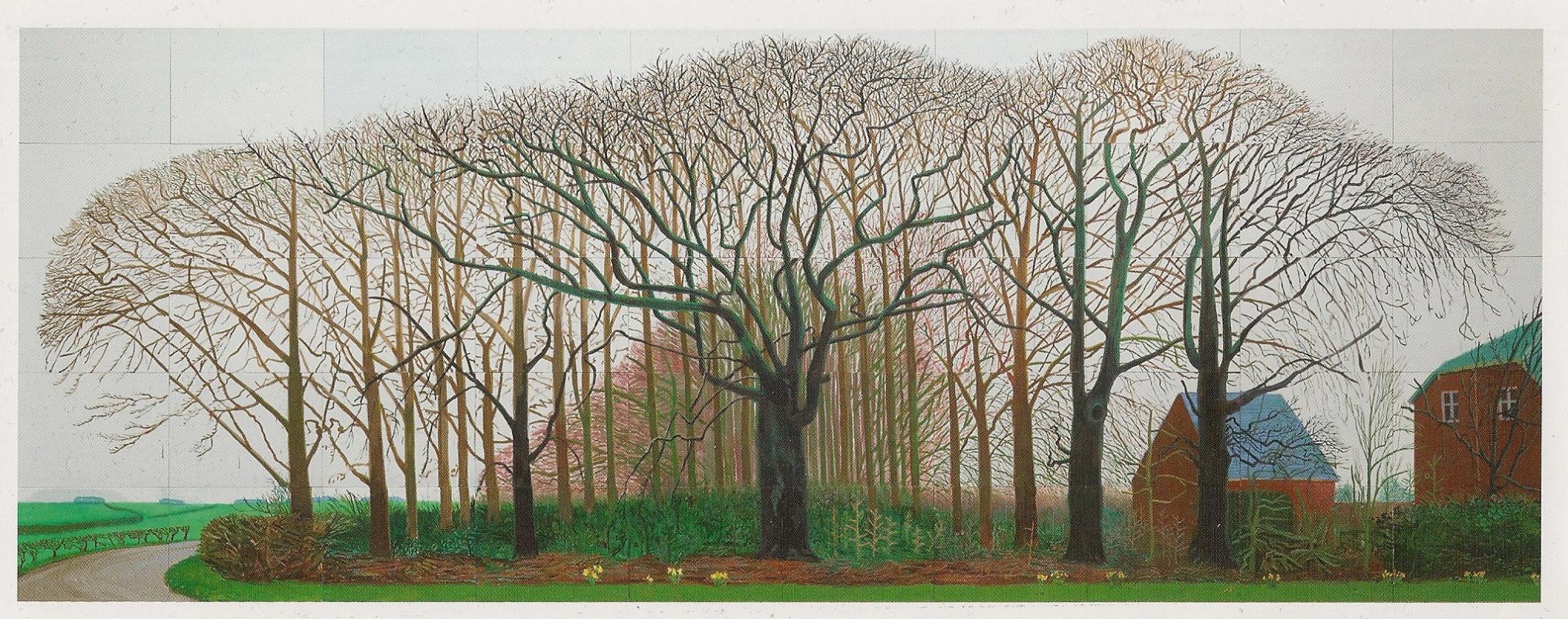Дэвид Хокни. Высокие деревья близ Уортера