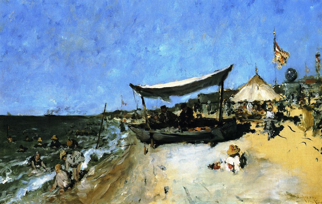 William Merritt Chase. On the shore