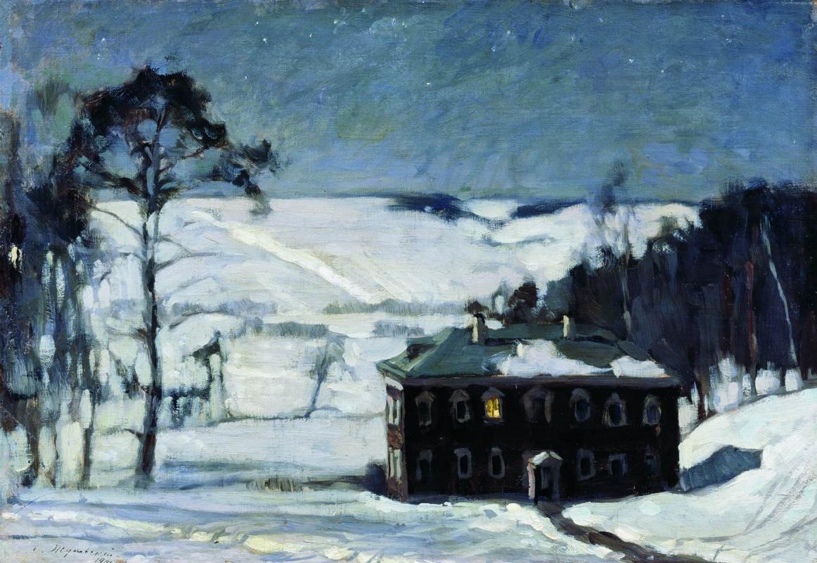Станислав Юлианович Жуковский. Лунная ночь зимой