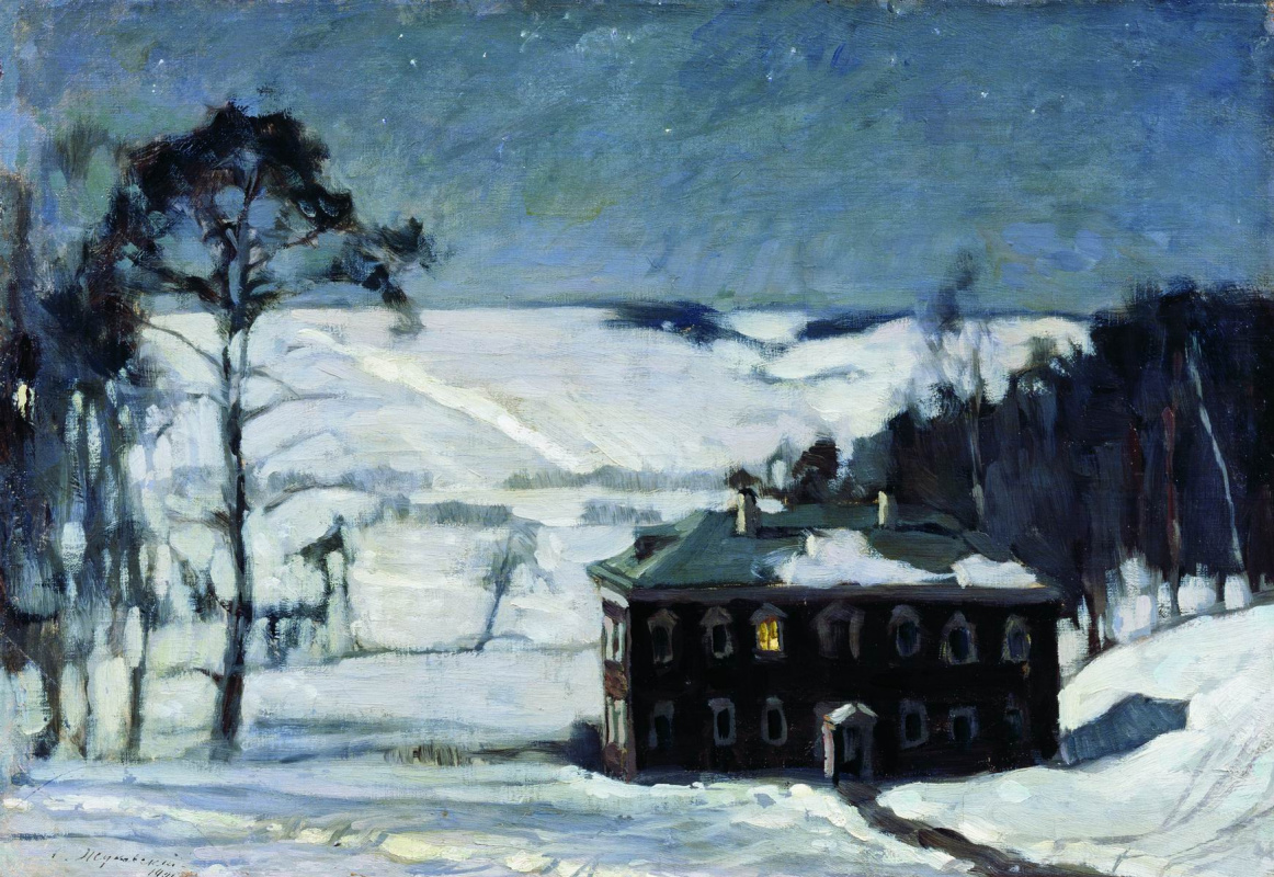 Stanislav Yulianovich Zhukovsky. Moonlit night in winter