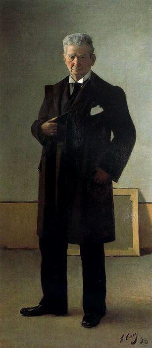 Рамон Касас Карбо. Портрет Рамона Касаса, отца художника