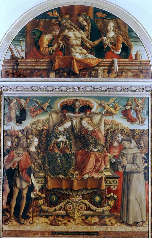 Карло Кривелли. Коронование Девы Марии