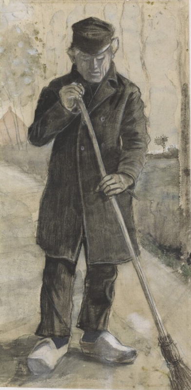 Винсент Ван Гог. Мужчина с метлой
