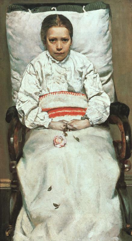 Кристиан Крог. Девушка с розой