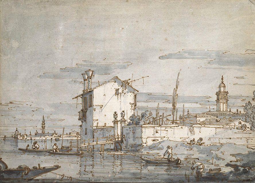 Джованни Антонио Каналь (Каналетто). Остров в лагуне