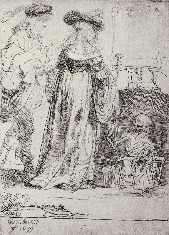 Рембрандт Харменс ван Рейн. Влюблённые и Смерть