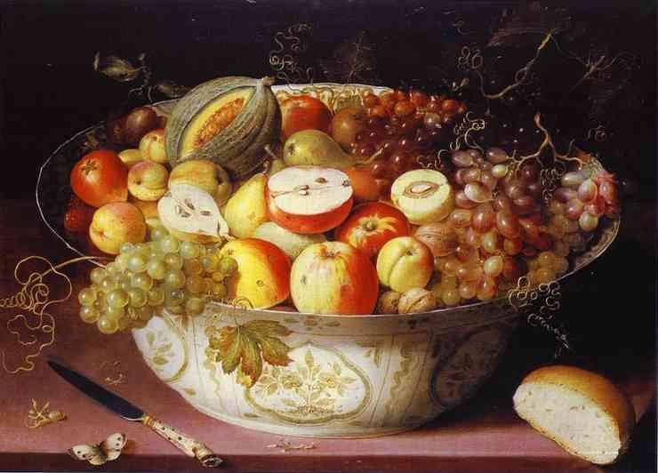Osias Bert. Still life with fruits