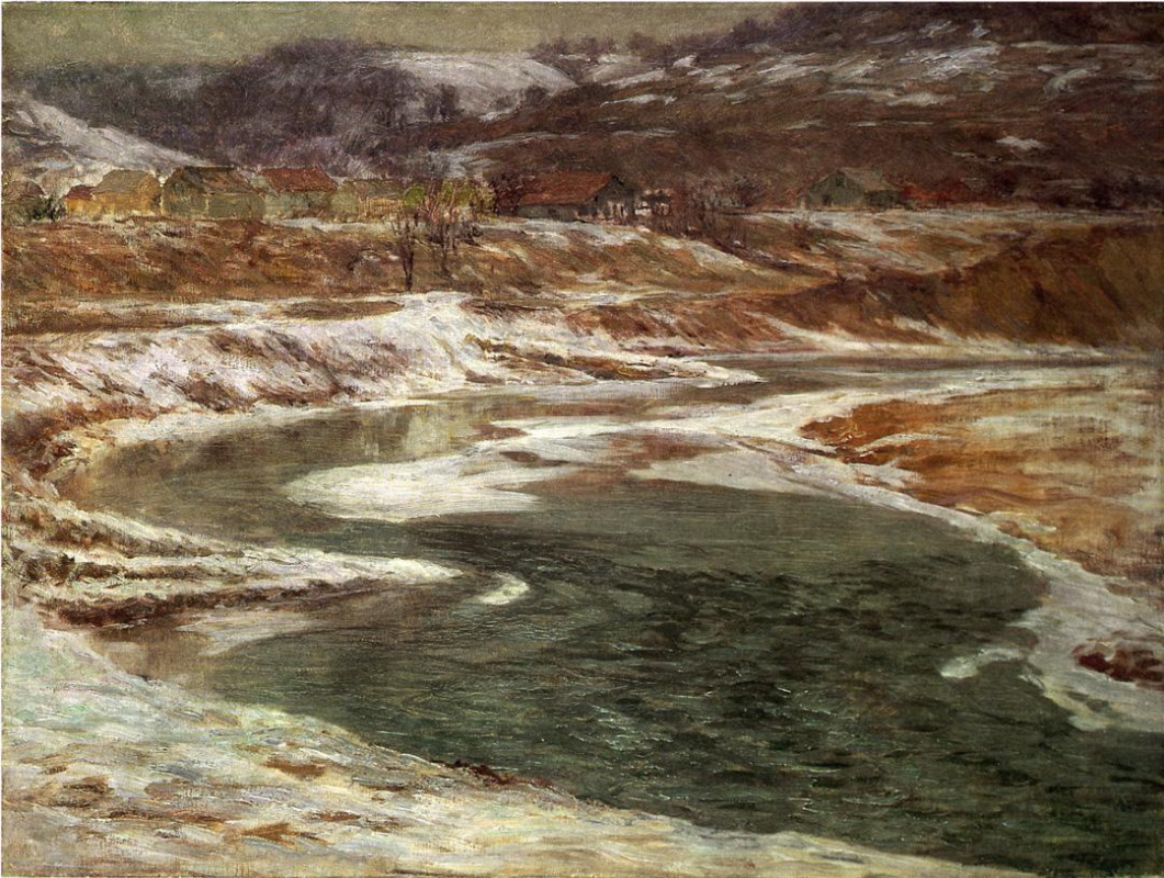 John Ottis Adams. Winter in Brookville