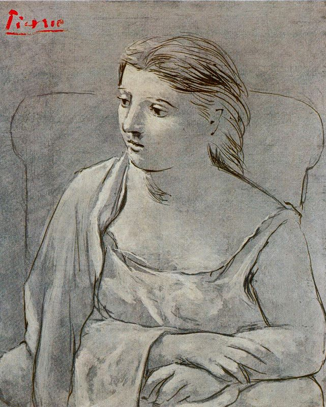 Pablo Picasso. The woman in white