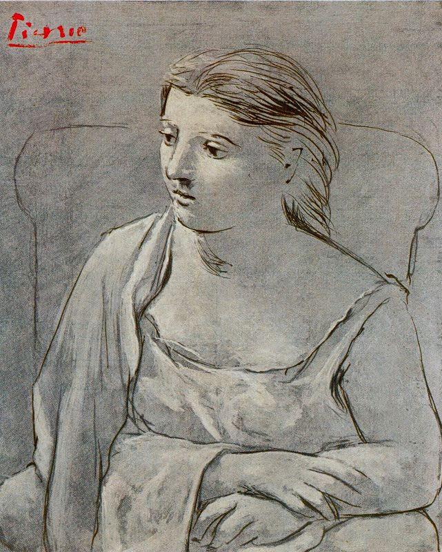 Пабло Пикассо. Сидящая девушка