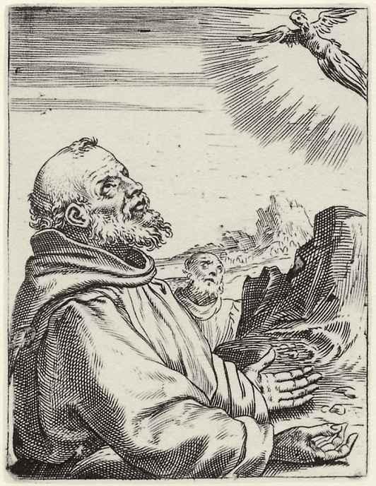 Агостино Карраччи. Стигматизация святого Франциска