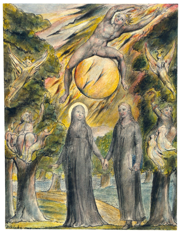 """Уильям Блейк. Солнце в его гневе. Иллюстрации к поэмам Мильтона """"Веселый"""" и """"Задумчивый"""""""
