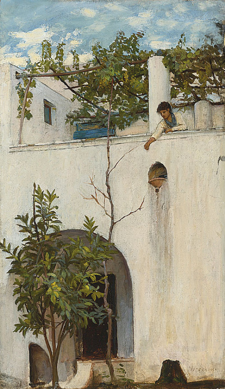 Джон Уильям Уотерхаус. Девушка на балконе. Капри