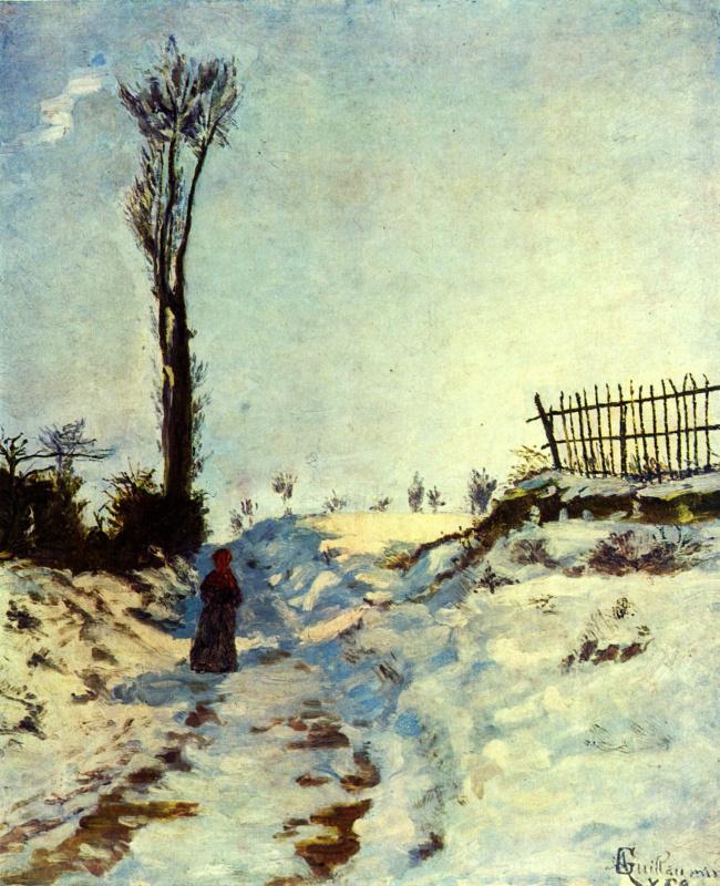 Тропинка в снегу